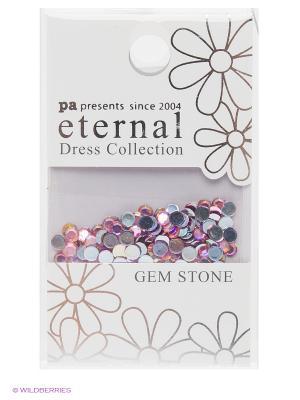 Стразы-камушки для ногтевого дизайна Розовая роза 3мм ETERNAL Dress Collection Gem Stone Pink Rose PA presents since 2004. Цвет: фиолетовый