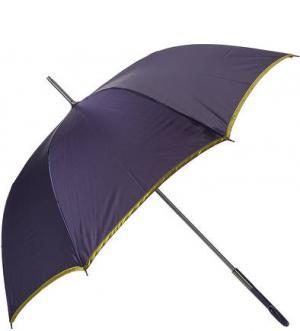 Фиолетовый зонт-трость с золотистой каймой Zest. Цвет: фиолетовый