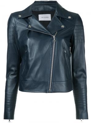 Классическая байкерская куртка Yves Salomon. Цвет: синий