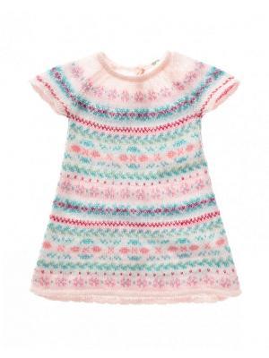 Платье United Colors of Benetton. Цвет: бледно-розовый, розовый, кремовый
