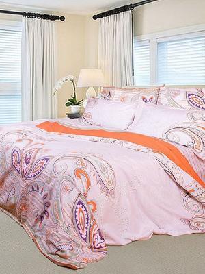 Комплект постельного белья Dream time. Цвет: розовый, фиолетовый, оранжевый