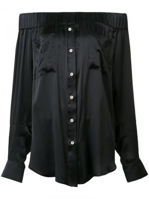Блузка с открытыми плечами Natasha Zinko. Цвет: чёрный