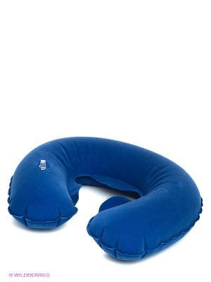 Детская надувная подушка-подголовник Экспедиция. Цвет: синий