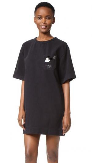 T-Shirt Dress with Embroidery Marc Jacobs. Цвет: голубой