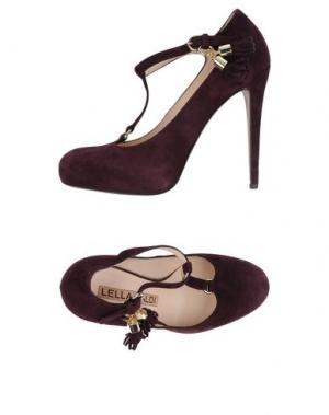 Туфли LELLA BALDI. Цвет: баклажанный