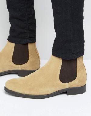 Selected Homme Замшевые ботинки челси Oliver. Цвет: светло-серый
