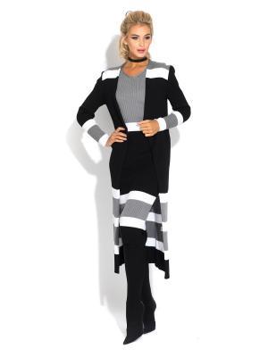 Кардиган CLEVER woman studio. Цвет: черный, серый