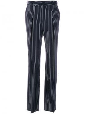 Широкие строгие брюки Lanvin. Цвет: синий