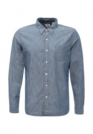 Рубашка джинсовая Levis® Levi's®. Цвет: голубой