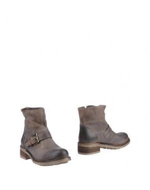 Полусапоги и высокие ботинки FABBRICA MORICHETTI. Цвет: серый