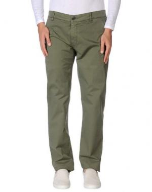 Повседневные брюки RE-HASH. Цвет: зеленый-милитари
