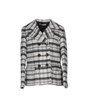 Пальто PAOLO CASALINI. Цвет: светло-серый