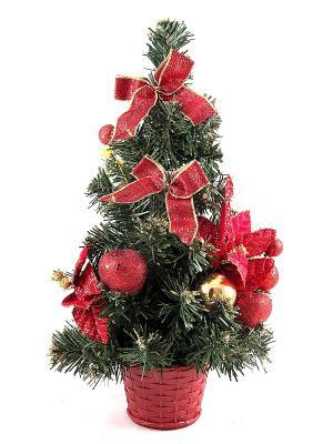 Ёлочка декоративная настольная Рождественское чудо Русские подарки. Цвет: зеленый, красный