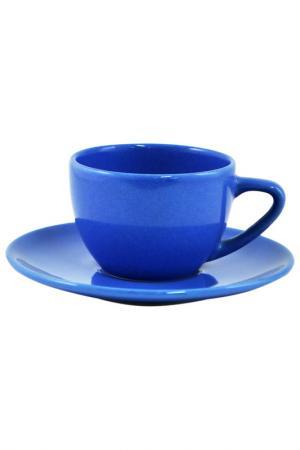 Чашка с блюдцем Blueberry Waechtersbacher. Цвет: синий