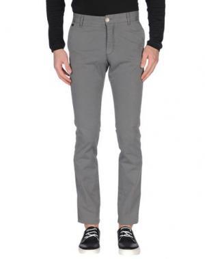 Повседневные брюки MANUEL RITZ WHITE. Цвет: серый