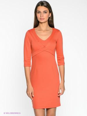 Платье Remix. Цвет: оранжевый