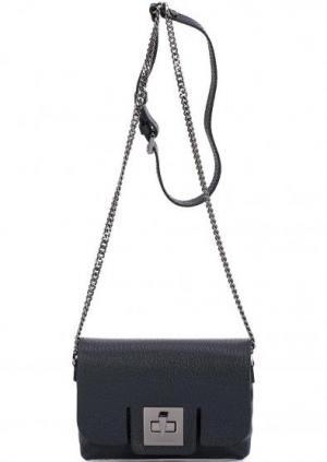 Кожаная сумка через плечо с одним отделом Gianni Chiarini. Цвет: синий