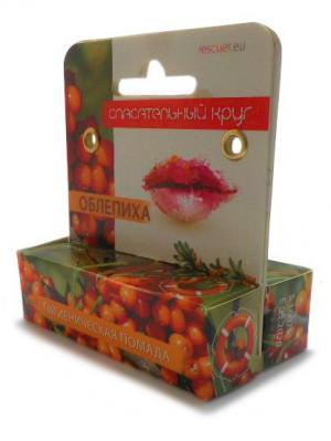 Гигиеническая помада Облепиха - комплект 2 шт. (4.6мл. + 4.6мл.) Спасательный круг. Цвет: оранжевый