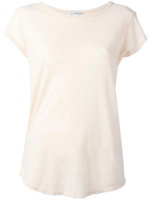 Классическая футболка James Perse. Цвет: телесный