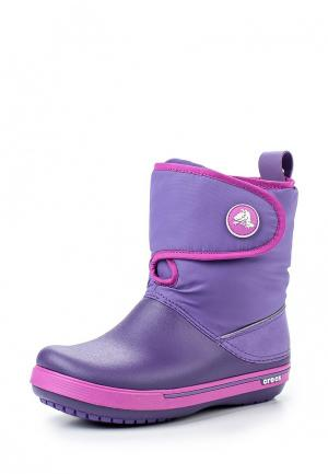 Сапоги Crocs. Цвет: фиолетовый
