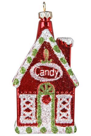 Украшение Домик Mister Christmas. Цвет: красный