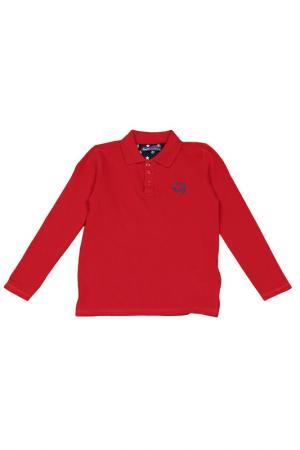 Рубашка-поло с длинным рукавом Gaudi. Цвет: 3403 красный