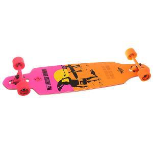 Лонгборд  Endless Summer Wake Yellow/Orange/Pink 9.375 x 38 (96.5 см) Dusters. Цвет: оранжевый,розовый