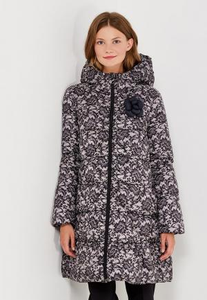 Куртка утепленная Odri Mio. Цвет: черно-белый