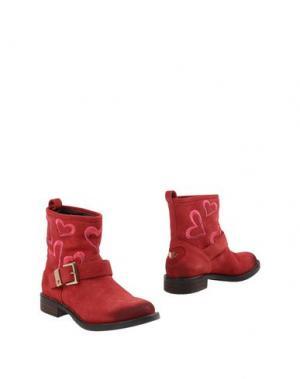 Полусапоги и высокие ботинки TWIN-SET Simona Barbieri. Цвет: красный