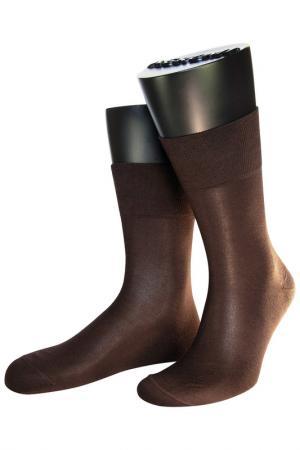 Носки ASKOMI. Цвет: темно-коричневый