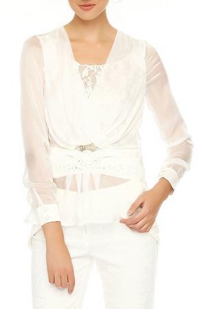 Блузка Sassofono. Цвет: белый