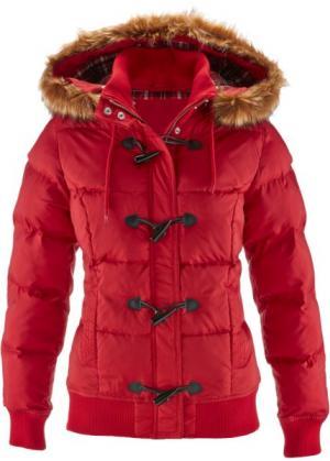 Куртка дафлкот (темно-красный) bonprix. Цвет: темно-красный