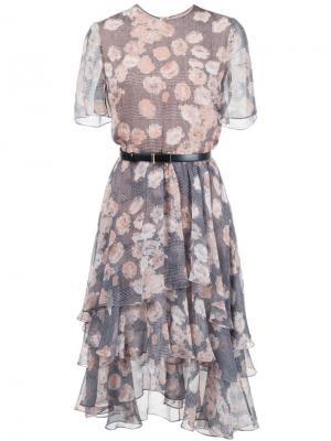 Платье с цветочным принтом Jason Wu. Цвет: чёрный