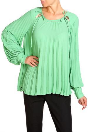 Блуза DENNEY ROSE. Цвет: зеленый