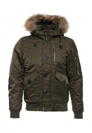Куртка утепленная Tony Backer. Цвет: зеленый