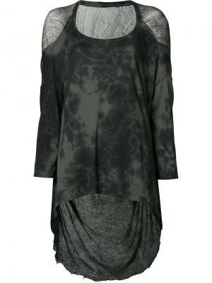 Длинная блузка-кокон Raquel Allegra. Цвет: зелёный