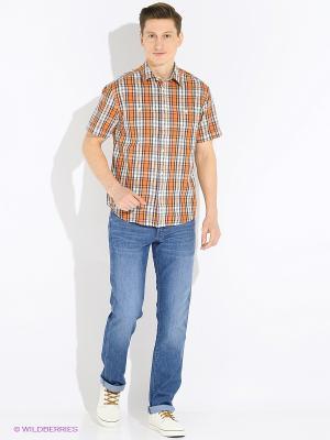 Сорочка Wrangler. Цвет: оранжевый