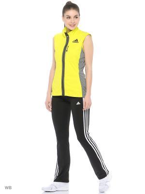 Жилет Xperior Soft Shell Vest Adidas. Цвет: желтый, темно-серый