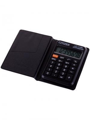 Калькулятор настольный SDC-888TII 12 разрядов, двойное питание, 158*203*31 мм, черный CITIZEN. Цвет: черный