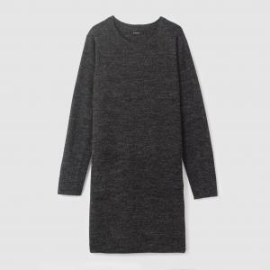 Платье-пуловер длинное OBAS DRESS B.YOUNG. Цвет: антрацит/меланж