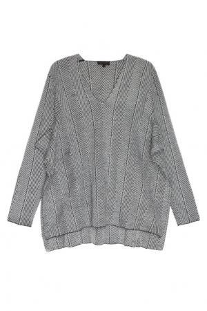 Пуловер из шерстяного трикотажа Adolfo Dominguez. Цвет: серый