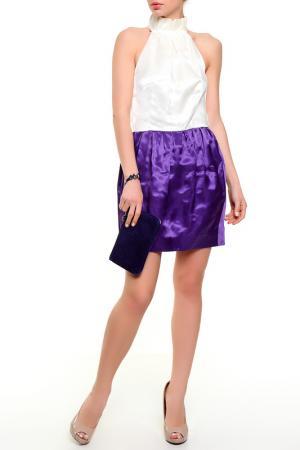 Платье Just Cavalli. Цвет: белый, фиолетовый