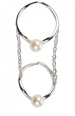 Кольцо JLC Accessories. Цвет: серебряный