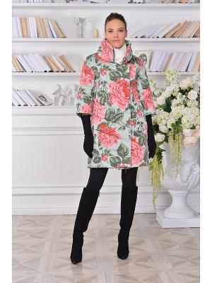 Пальто Katerina Bleska&Tamara Savin. Цвет: зеленый, розовый, серый
