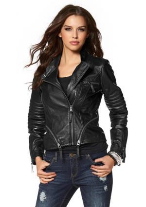 Кожаная куртка Laura Scott. Цвет: черный