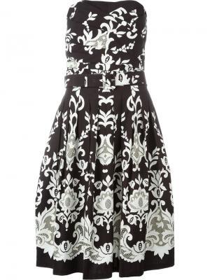 Платье с английским узором Samantha Sung. Цвет: коричневый