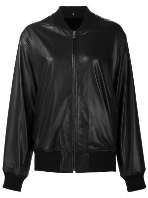 Leather bomber jacket Peter Cohen. Цвет: чёрный