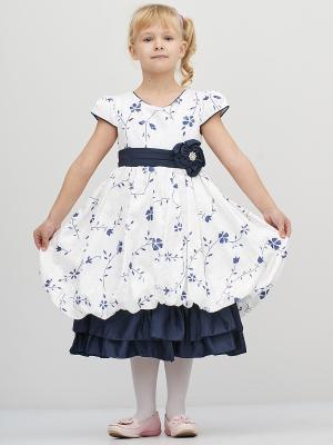 Платье Baby Moses. Цвет: темно-синий, белый