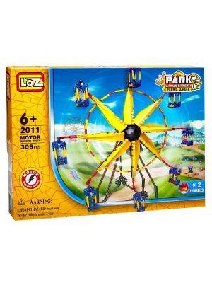 Электромеханический конструктор LOZ PARK. Серия: Парк развлечений. Карусель. Цвет: синий