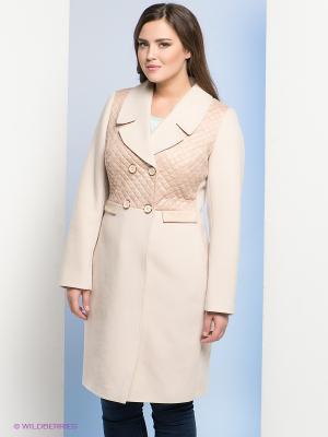 Пальто Electrastyle. Цвет: кремовый